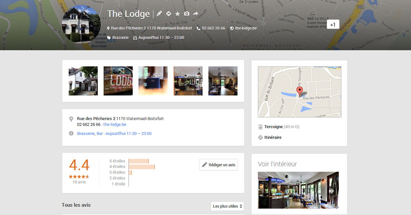 Page Google+ Locale - The Lodge
