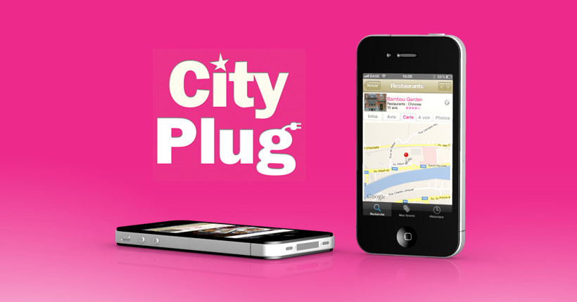 City plug - application mobile - Page de géolocalisation des commerçants