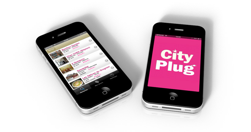 City plug - application mobile - page de résultats de recherche