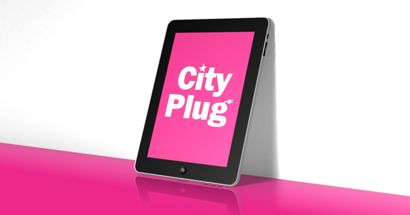 City plug - application mobile - Page cover sur iPad