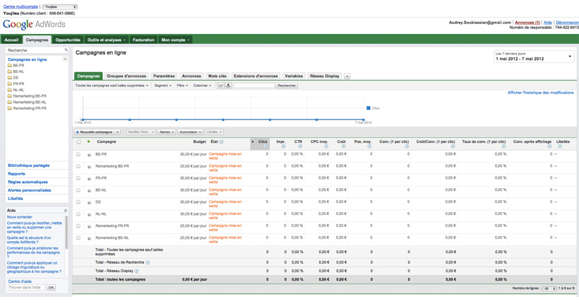 biojiTea - Campagnes AdWords du site E-commerce