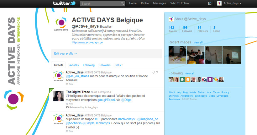 ACTIVE DAYS - Compte Twitter