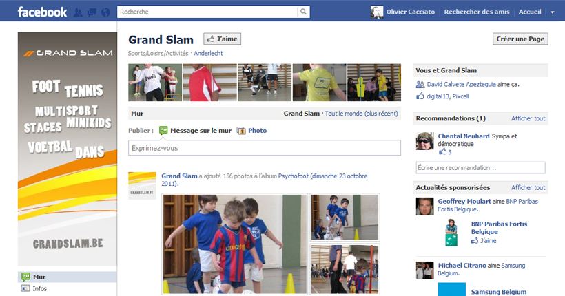 Grand Slam - Page Facebook