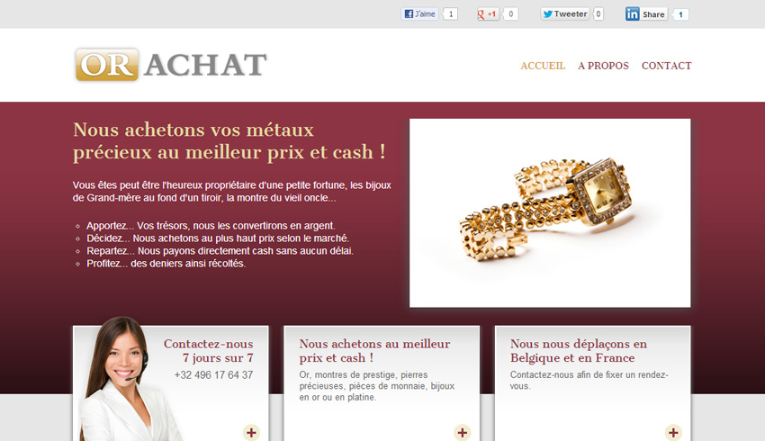 or achat creation site web 01 accueil